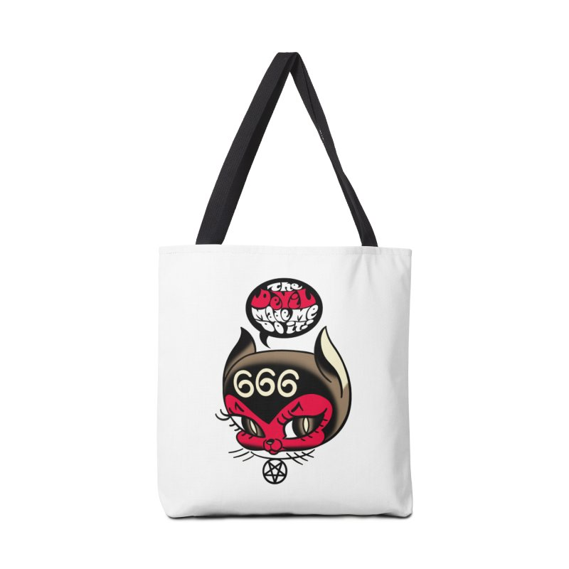 The Devil Made Me Do It! Accessories Tote Bag Bag by Mitch O'Connell