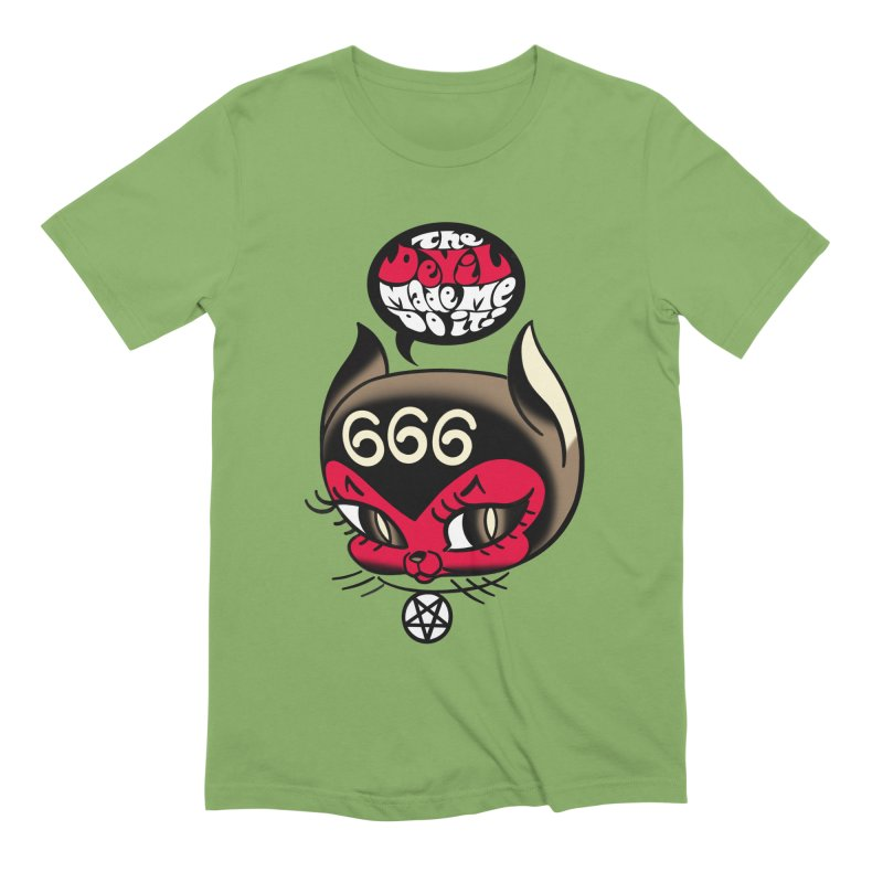 The Devil Made Me Do It! Men's Extra Soft T-Shirt by Mitch O'Connell