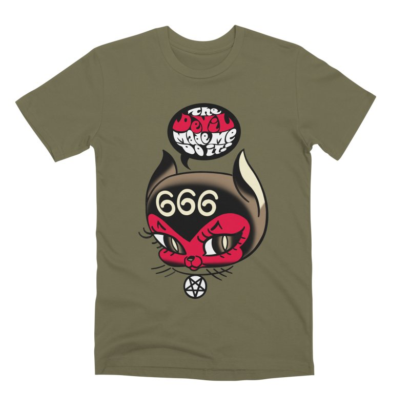 The Devil Made Me Do It! Men's Premium T-Shirt by Mitch O'Connell