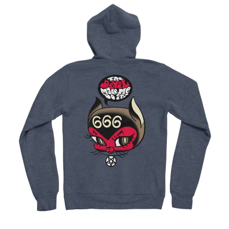 The Devil Made Me Do It! Men's Sponge Fleece Zip-Up Hoody by Mitch O'Connell