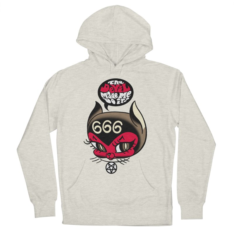 The Devil Made Me Do It! Men's French Terry Pullover Hoody by Mitch O'Connell