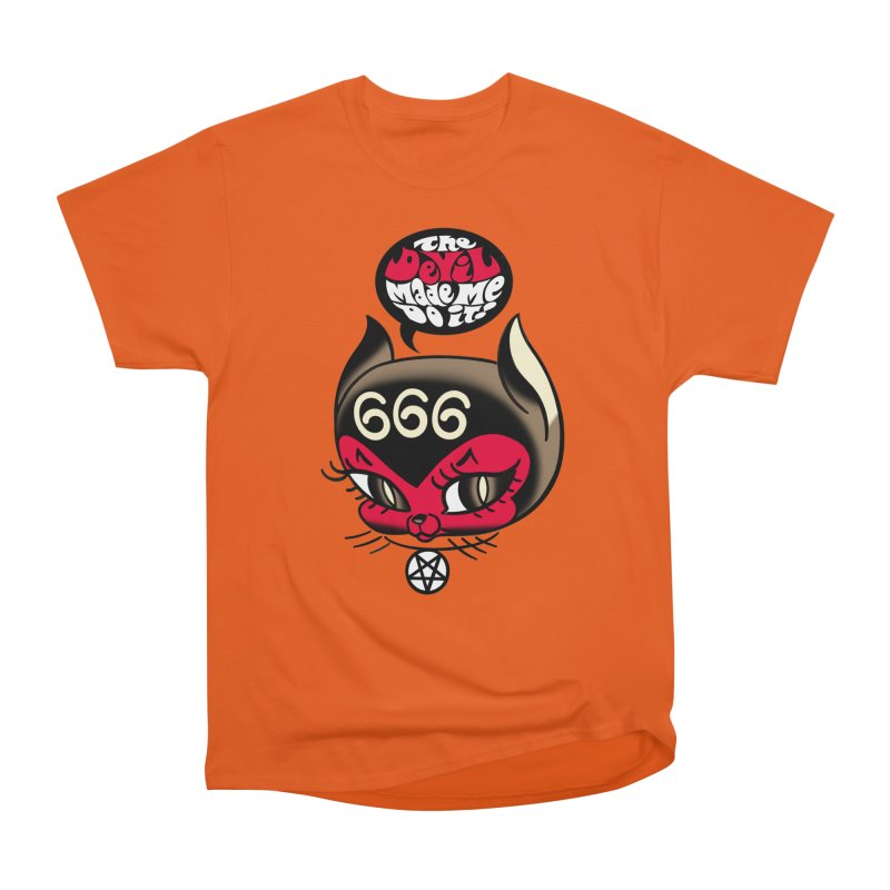 The Devil Made Me Do It! Men's Heavyweight T-Shirt by Mitch O'Connell