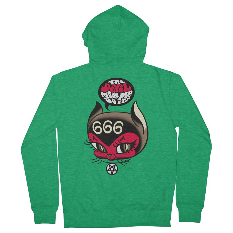 The Devil Made Me Do It! Women's Zip-Up Hoody by Mitch O'Connell