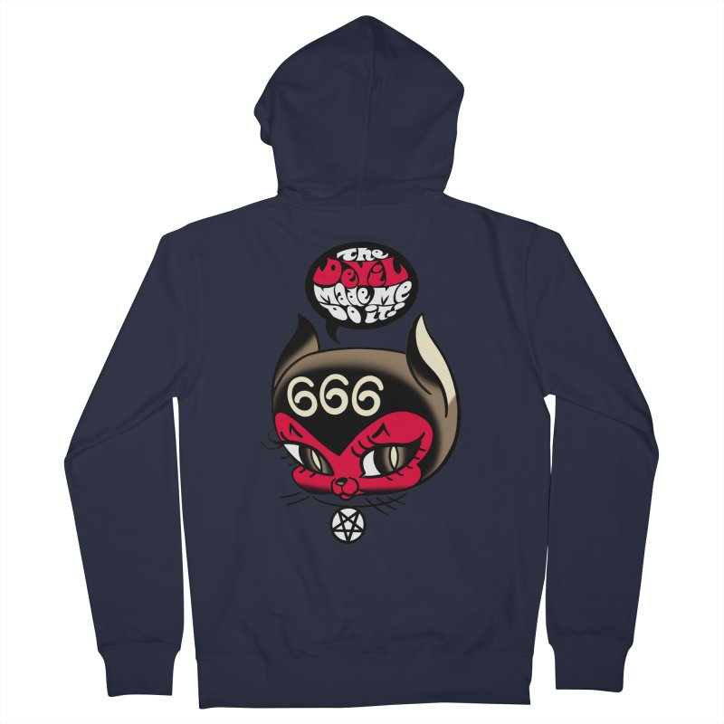The Devil Made Me Do It! Men's French Terry Zip-Up Hoody by Mitch O'Connell