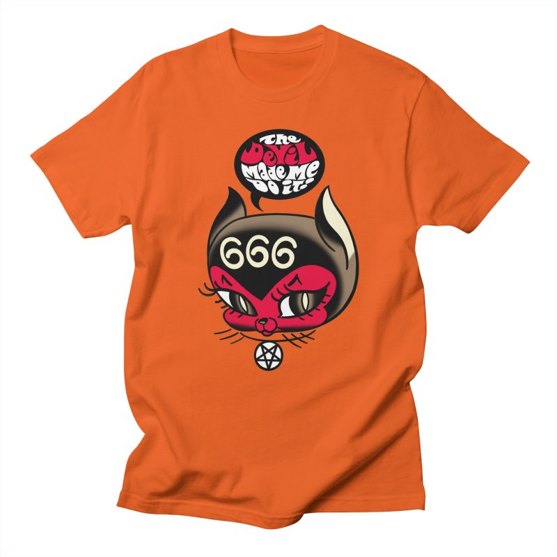 The Devil Made Me Do It! Women's Regular Unisex T-Shirt by Mitch O'Connell