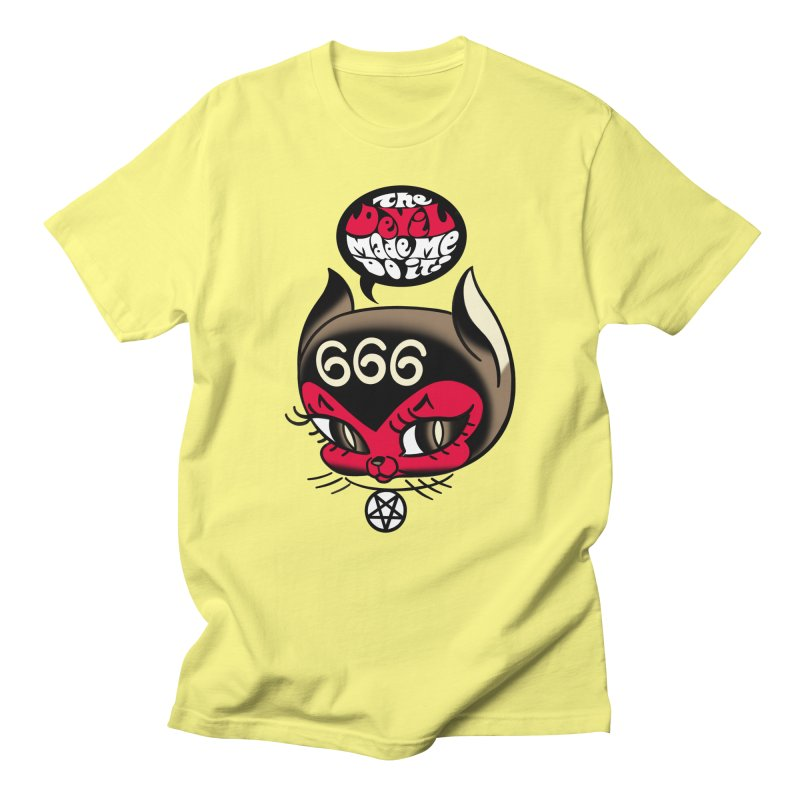 The Devil Made Me Do It! Men's T-Shirt by Mitch O'Connell