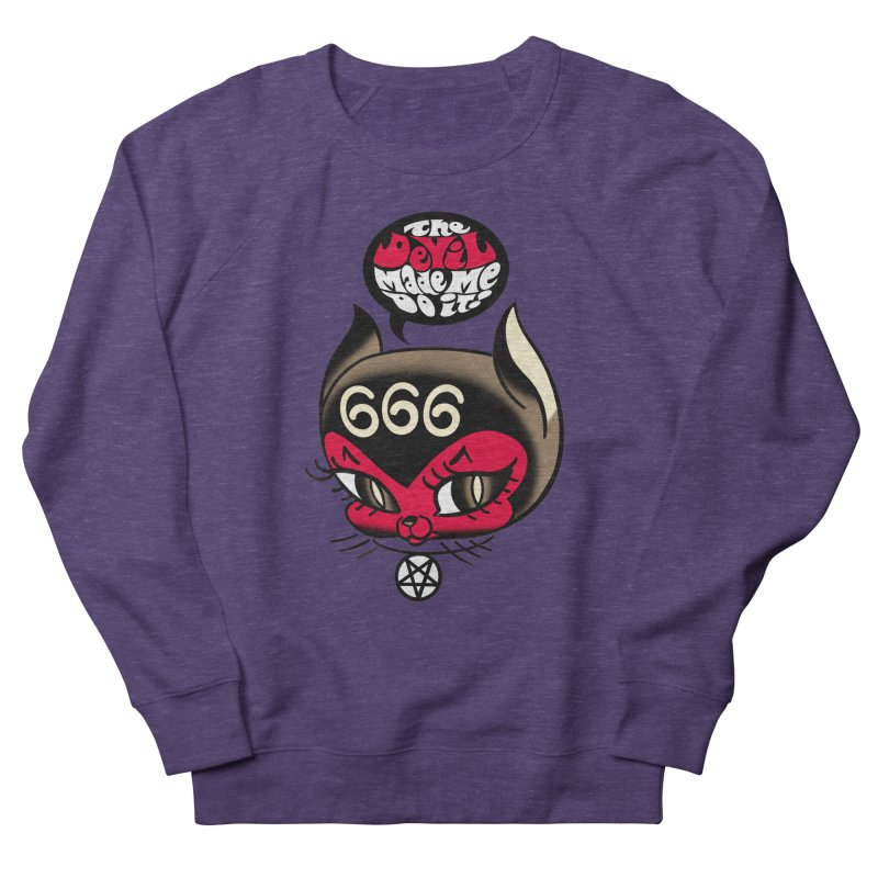 The Devil Made Me Do It! Men's French Terry Sweatshirt by Mitch O'Connell
