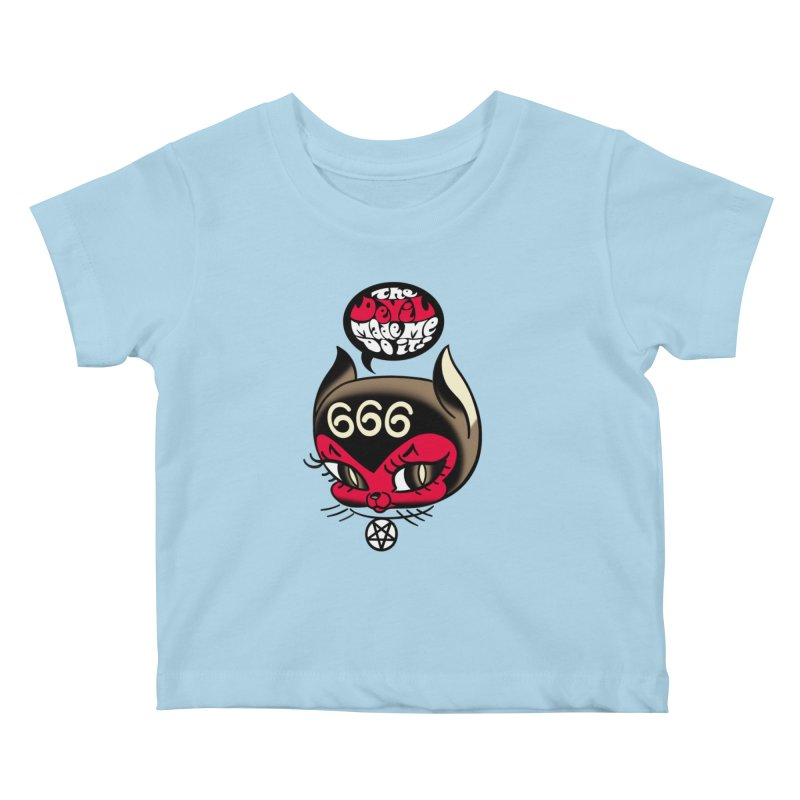 The Devil Made Me Do It! Kids Baby T-Shirt by Mitch O'Connell