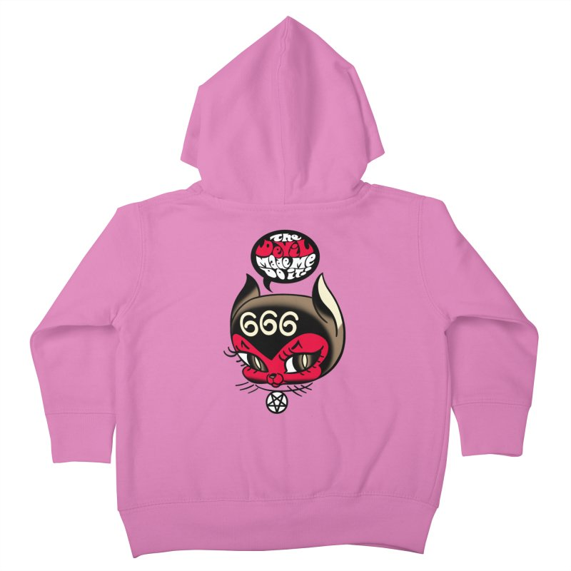 The Devil Made Me Do It! Kids Toddler Zip-Up Hoody by Mitch O'Connell
