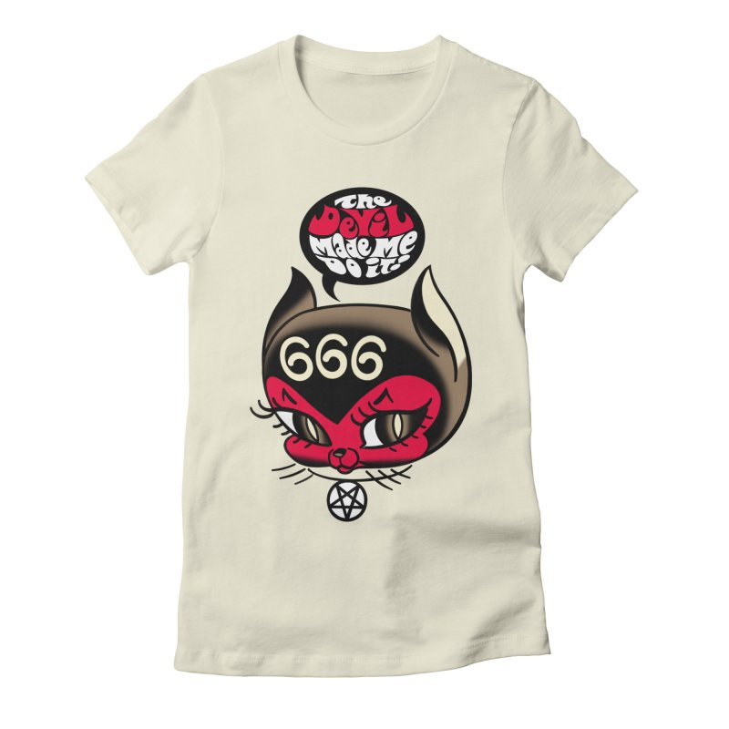 The Devil Made Me Do It! Women's Fitted T-Shirt by Mitch O'Connell