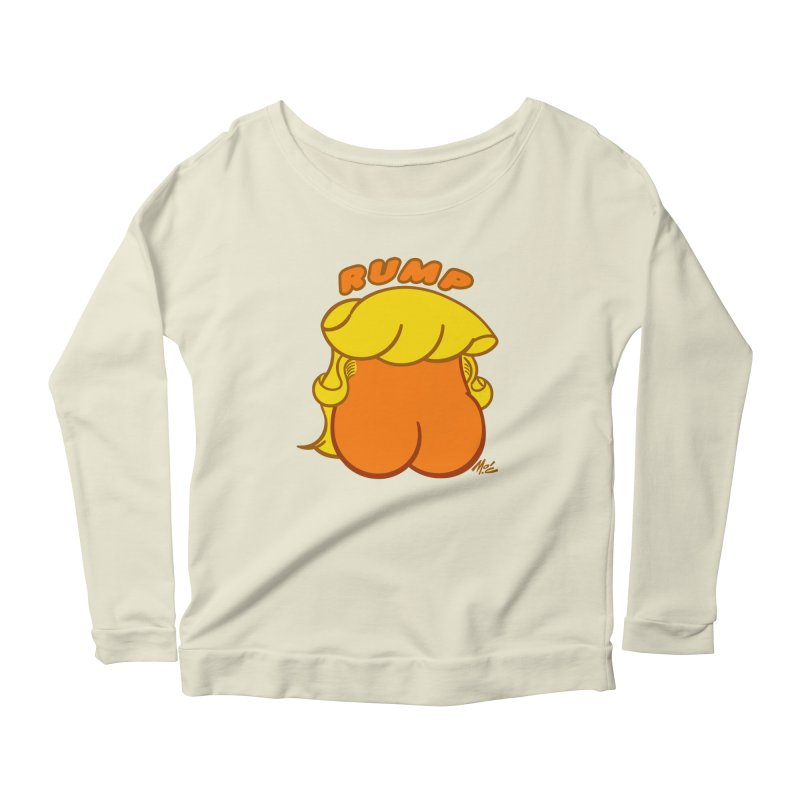 RUMP Women's Scoop Neck Longsleeve T-Shirt by Mitch O'Connell