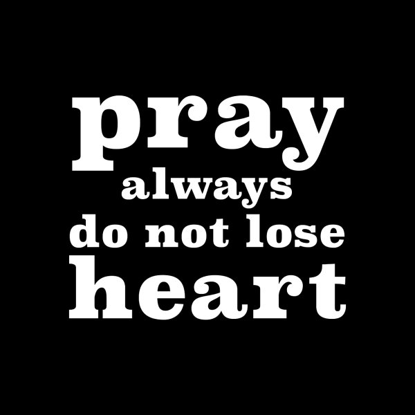 image for Pray Always (white)