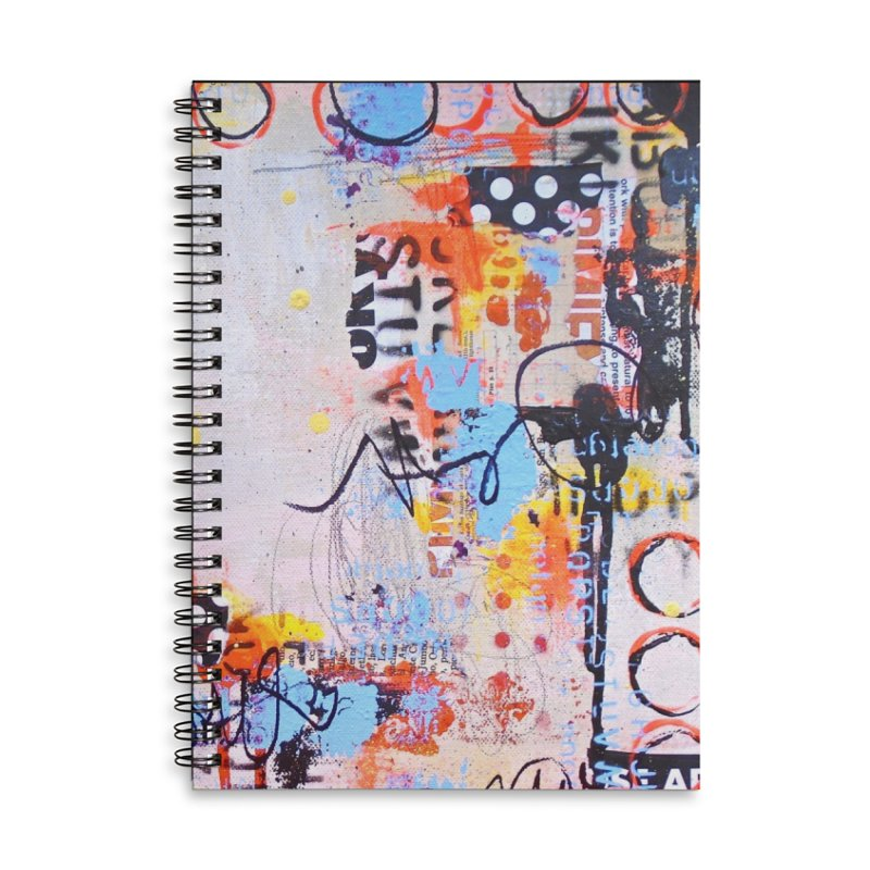 The Beat Goes On Accessories Lined Spiral Notebook by Lorette C. Luzajic Journals