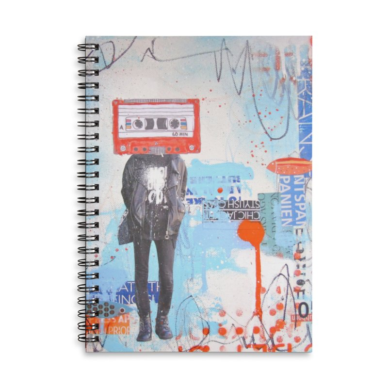 Let the Tape Keep Rolling Accessories Lined Spiral Notebook by Lorette C. Luzajic Journals