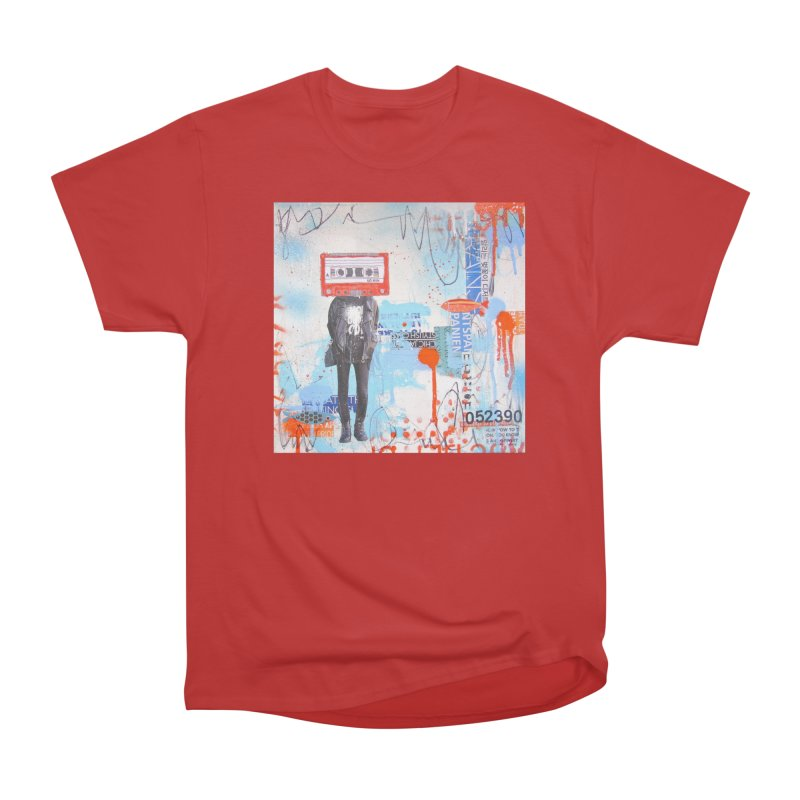 Let the Tape Keep Rolling Men's Heavyweight T-Shirt by Lorette C. Luzajic Journals