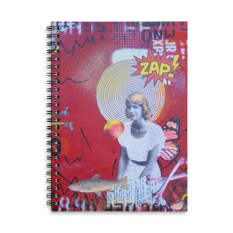 Lady Lazarus- Sylvia Plath notebook Accessories Lined Spiral Notebook by Lorette C. Luzajic Journals
