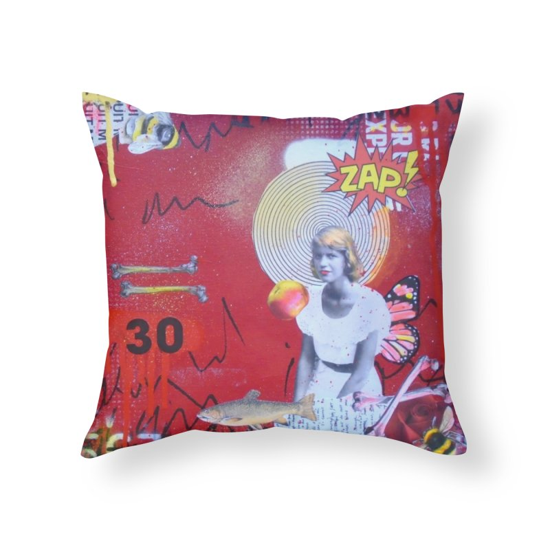 Lady Lazarus- Sylvia Plath notebook Home Throw Pillow by Mixed Up Media by Lorette C. Luzajic