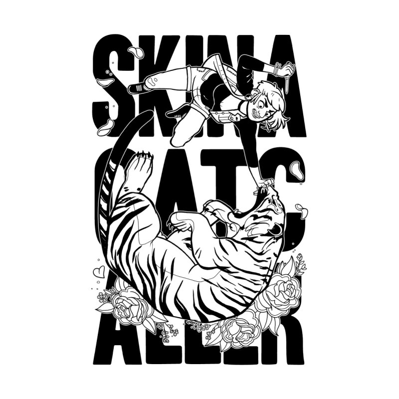 Skin a Catcaller (Black Text) Home Stretched Canvas by Mixtape Comics