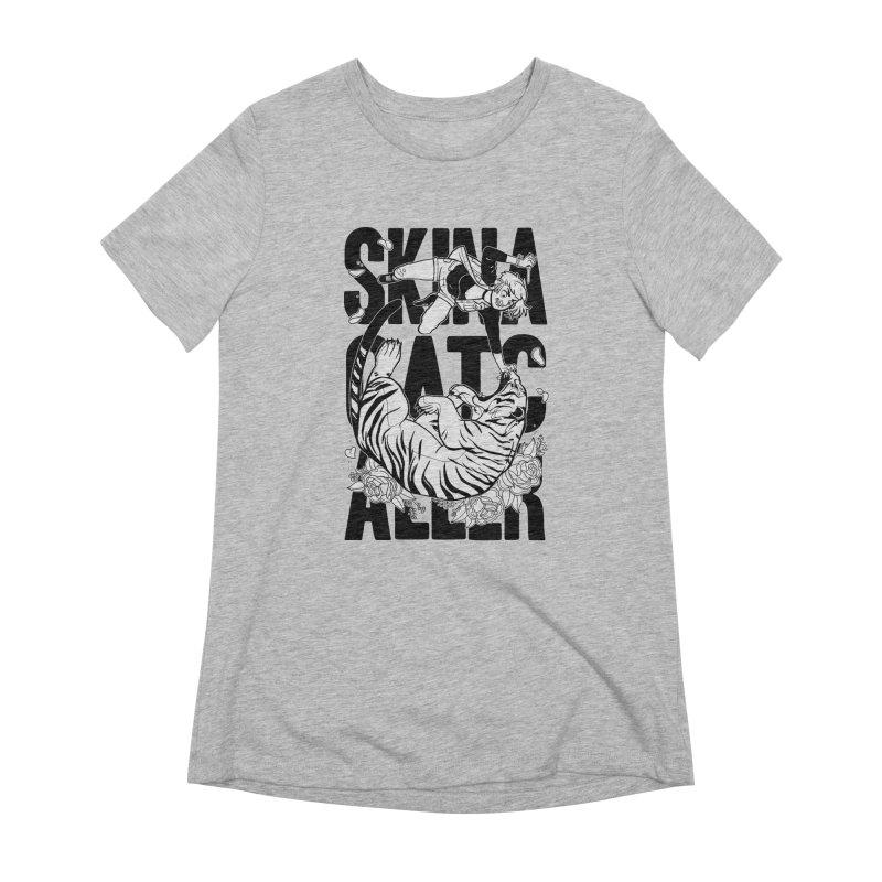 Skin a Catcaller (Black Text) Women's Extra Soft T-Shirt by Mixtape Comics