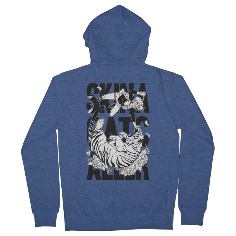 Skin a Catcaller (Black Text) Women's French Terry Zip-Up Hoody by Mixtape Comics