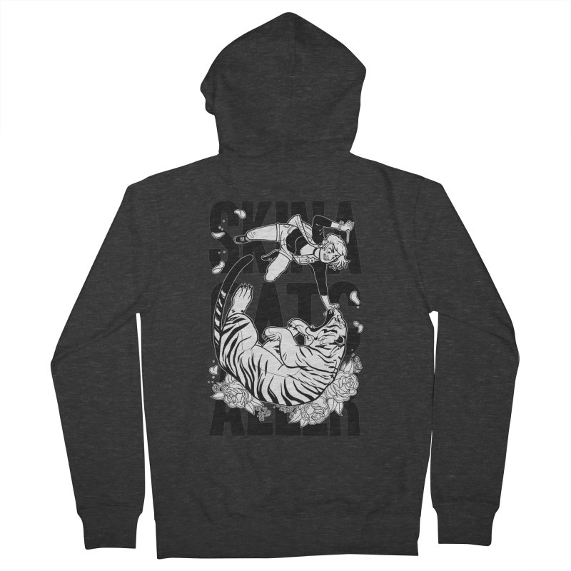 Skin a Catcaller (Black Text) Men's French Terry Zip-Up Hoody by Mixtape Comics