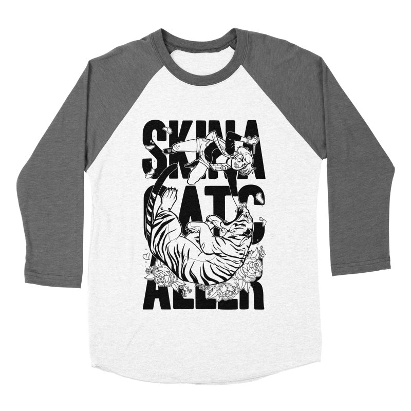Skin a Catcaller (Black Text) Women's Baseball Triblend Longsleeve T-Shirt by Mixtape Comics