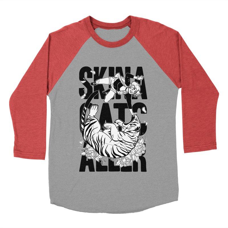 Skin a Catcaller (Black Text) Men's Baseball Triblend Longsleeve T-Shirt by Mixtape Comics