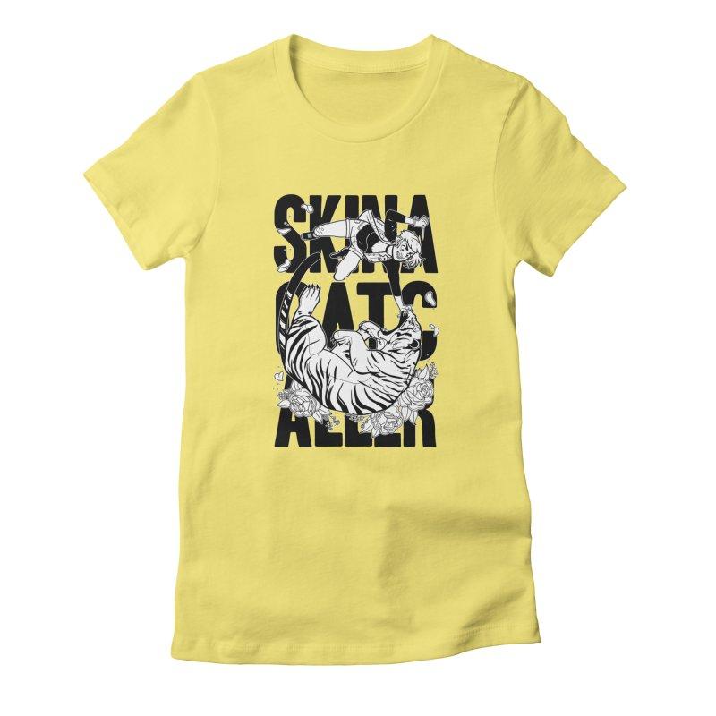 Skin a Catcaller (Black Text) Women's T-Shirt by Mixtape Comics