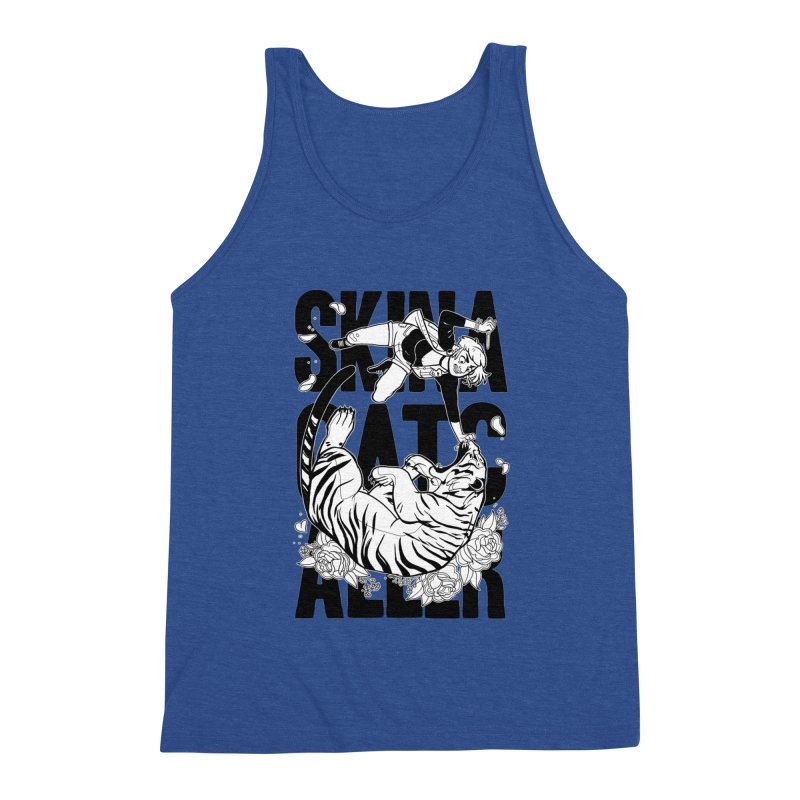 Skin a Catcaller (Black Text) Men's Triblend Tank by Mixtape Comics