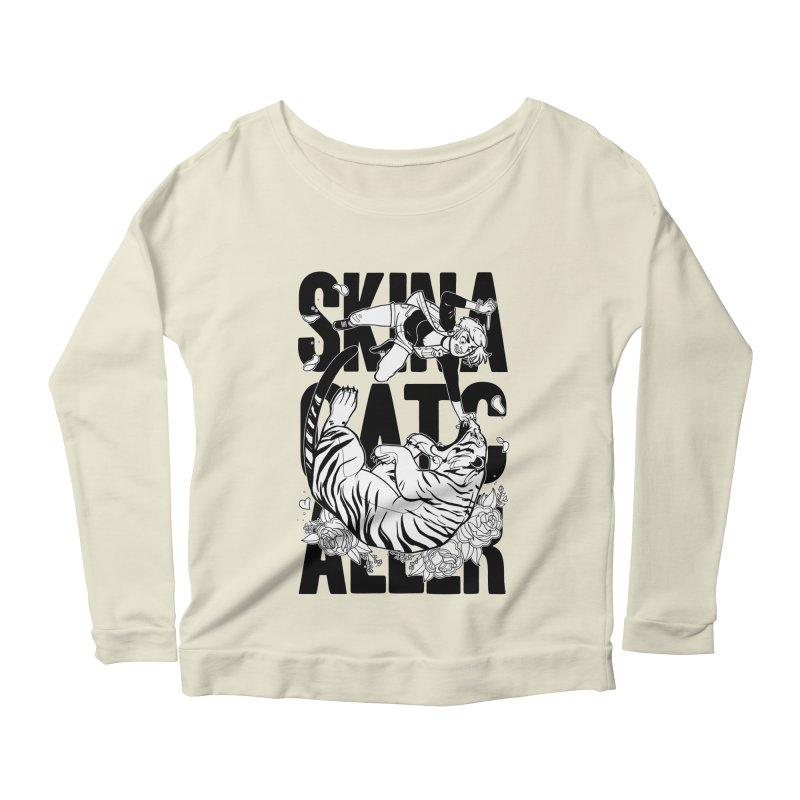 Skin a Catcaller (Black Text) Women's Scoop Neck Longsleeve T-Shirt by Mixtape Comics
