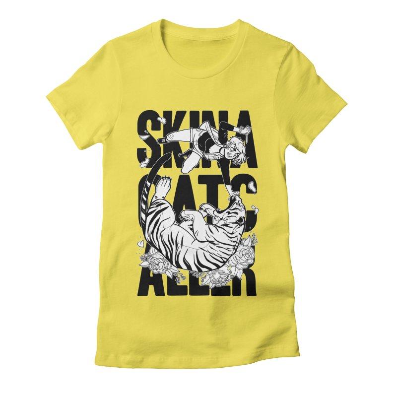 Skin a Catcaller (Black Text) Women's Fitted T-Shirt by Mixtape Comics