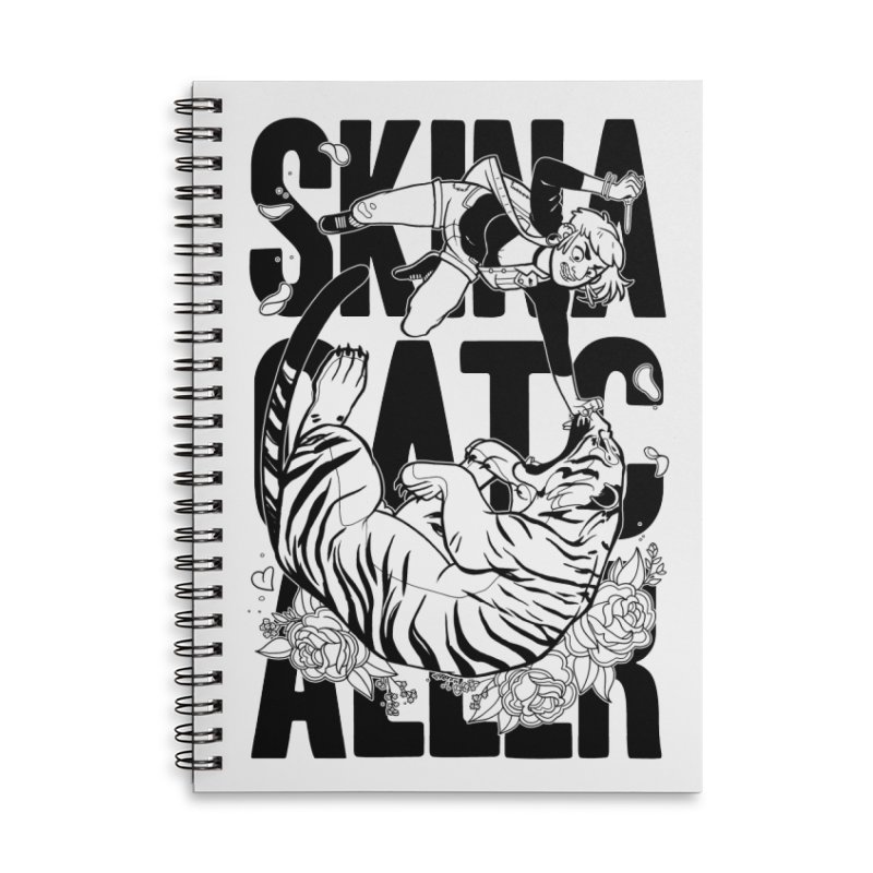 Skin a Catcaller (Black Text) Accessories Lined Spiral Notebook by Mixtape Comics