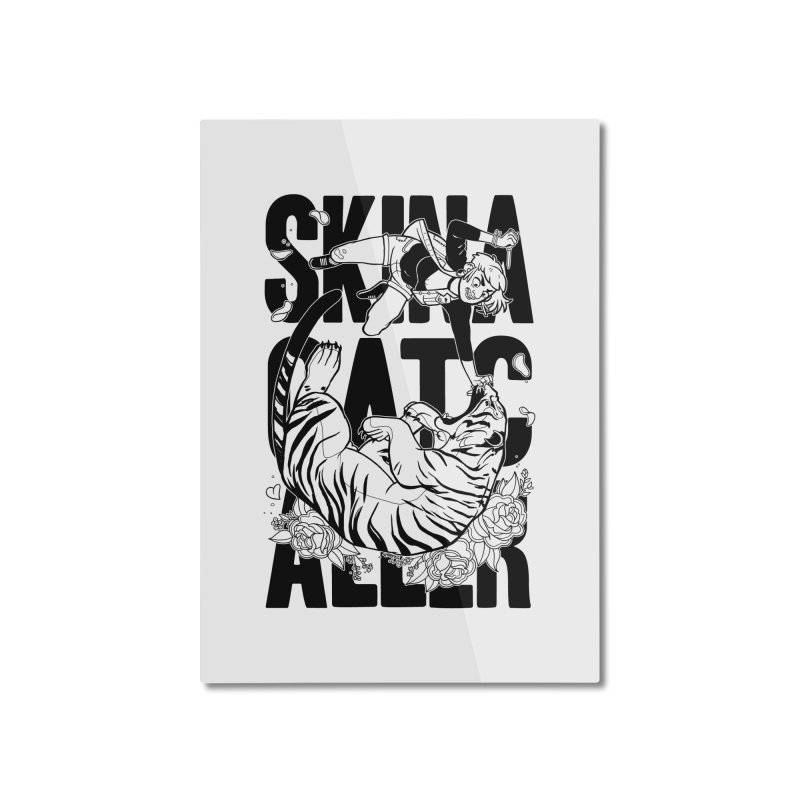 Skin a Catcaller (Black Text) Home Mounted Aluminum Print by Mixtape Comics