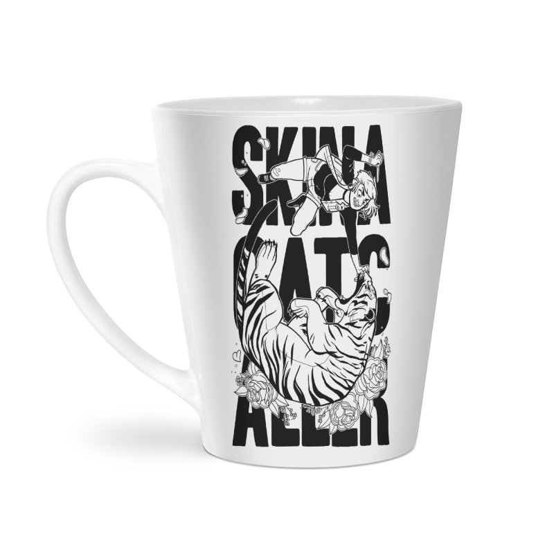 Skin a Catcaller (Black Text) Accessories Latte Mug by Mixtape Comics