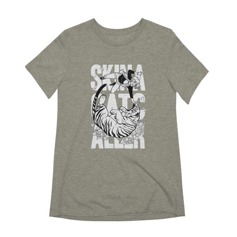 Skin a Catcaller (White Text) Women's Extra Soft T-Shirt by Mixtape Comics