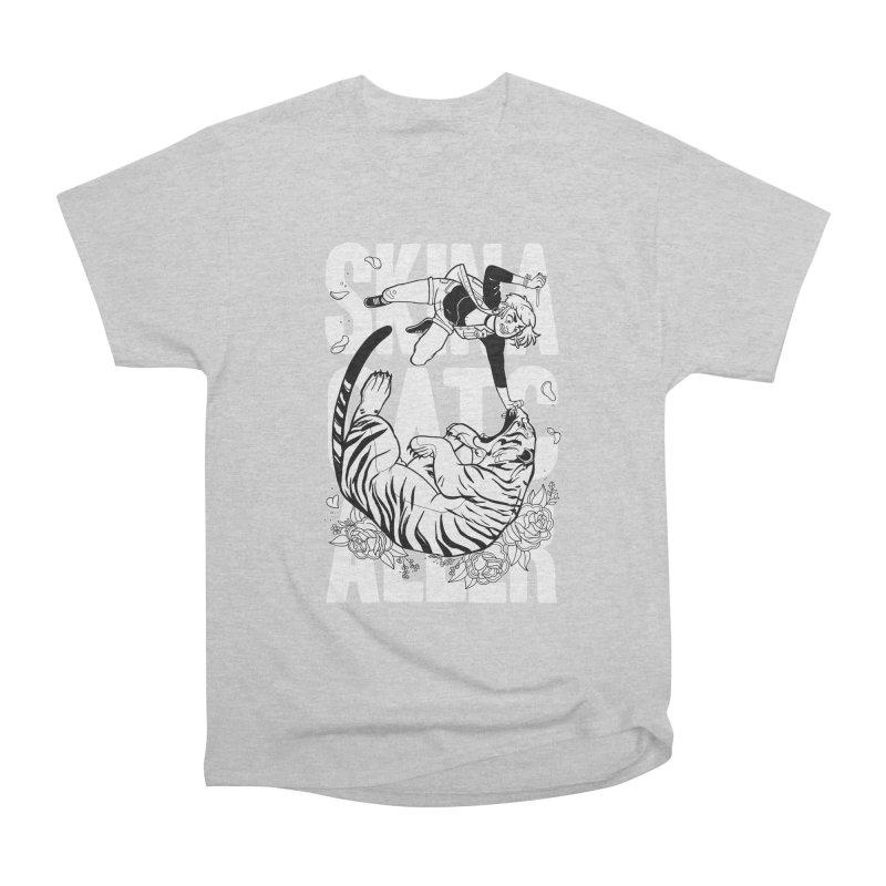 Skin a Catcaller (White Text) Men's Heavyweight T-Shirt by Mixtape Comics