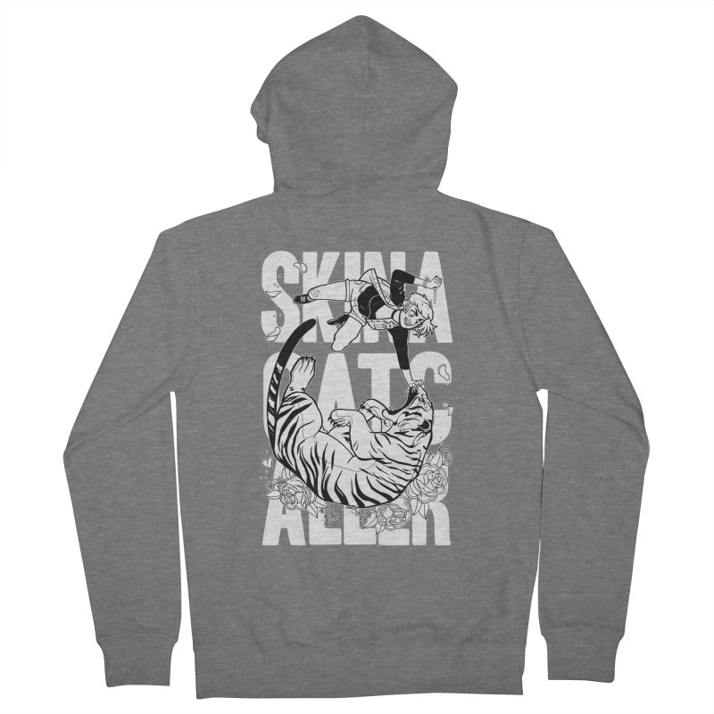 Skin a Catcaller (White Text) Women's French Terry Zip-Up Hoody by Mixtape Comics