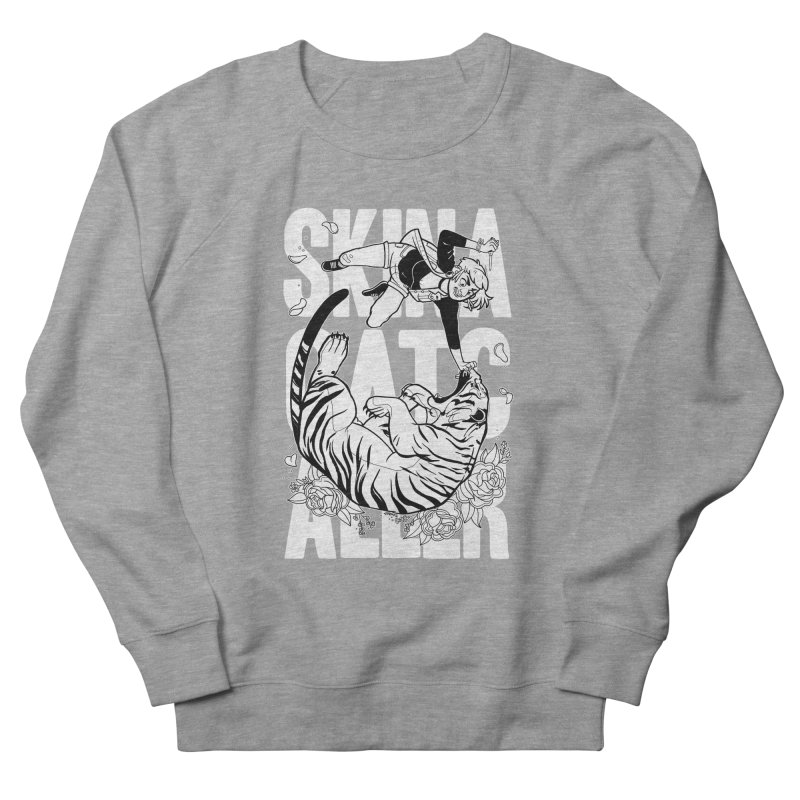 Skin a Catcaller (White Text) Men's French Terry Sweatshirt by Mixtape Comics