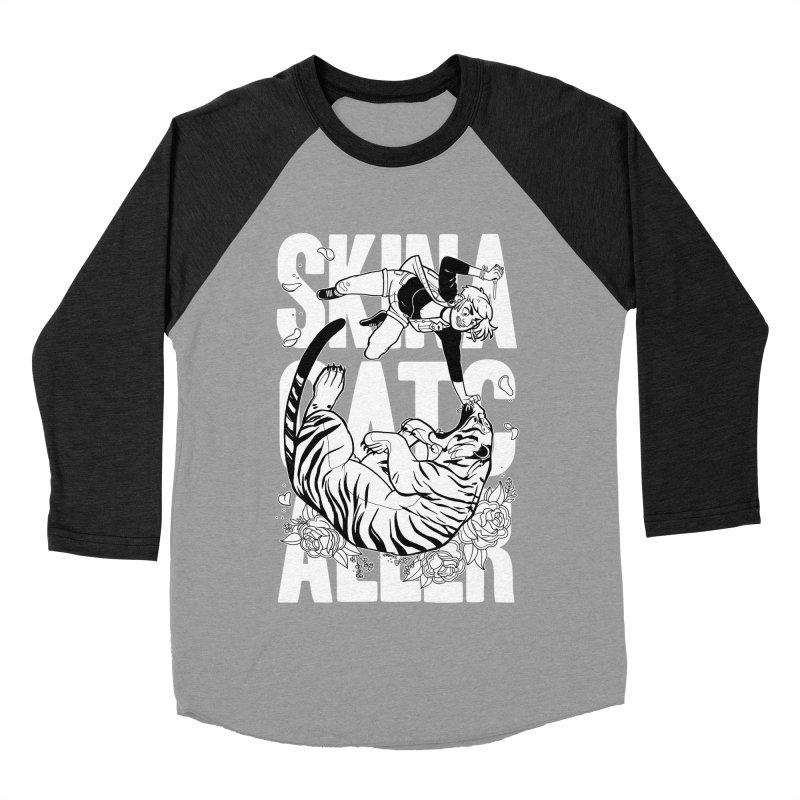 Skin a Catcaller (White Text) Women's Baseball Triblend Longsleeve T-Shirt by Mixtape Comics