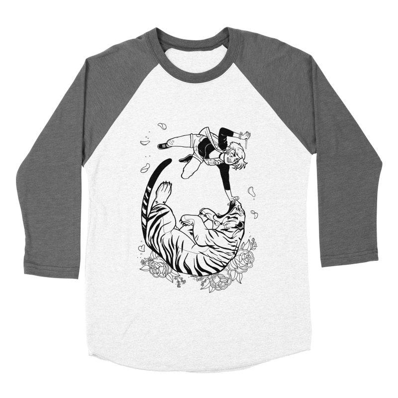 Skin a Catcaller (White Text) Men's Baseball Triblend Longsleeve T-Shirt by Mixtape Comics