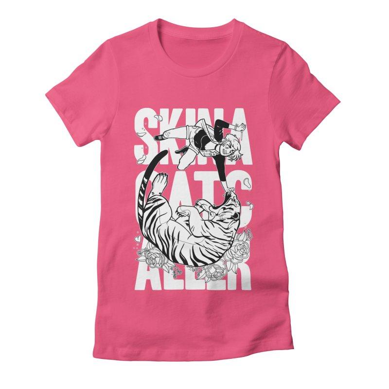 Skin a Catcaller (White Text) Women's T-Shirt by Mixtape Comics