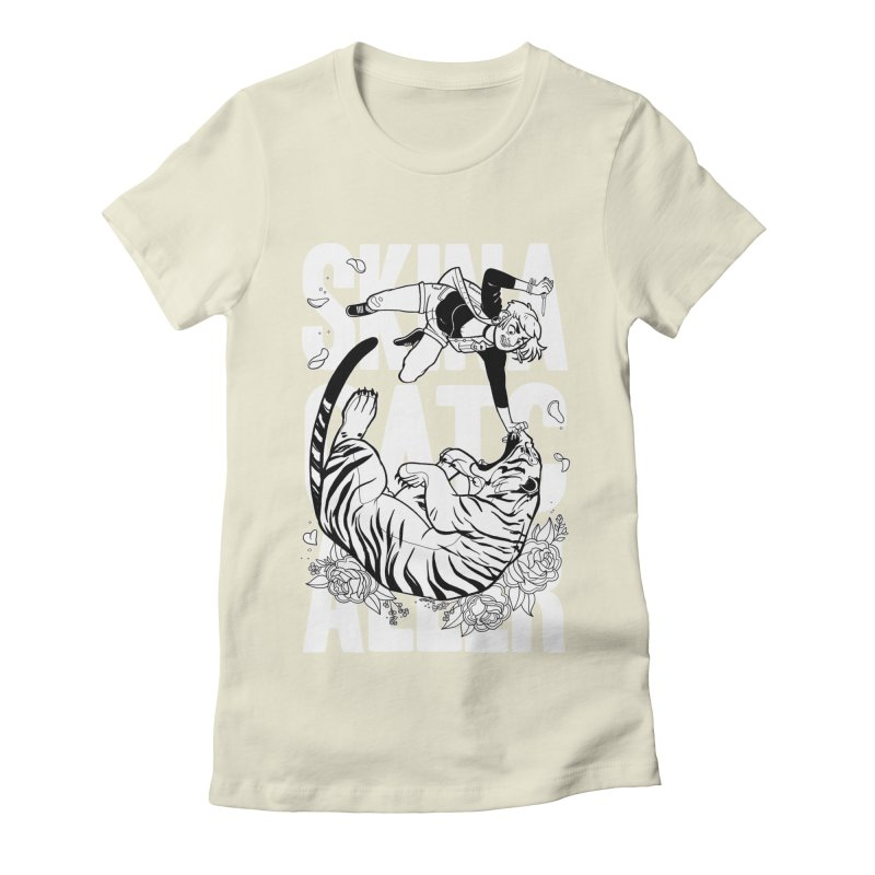 Skin a Catcaller (White Text) Women's Fitted T-Shirt by Mixtape Comics