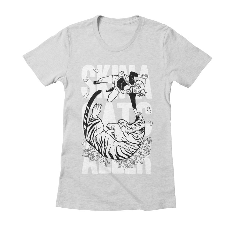 Skin a Catcaller (White Text) Women's Fitted T-Shirt by Mixtape Comics