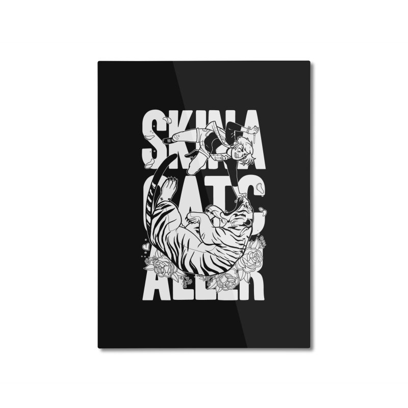 Skin a Catcaller (White Text) Home Mounted Aluminum Print by Mixtape Comics
