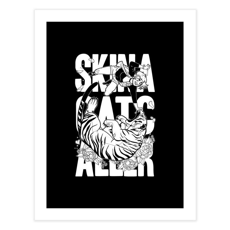 Skin a Catcaller (White Text) Home Fine Art Print by Mixtape Comics