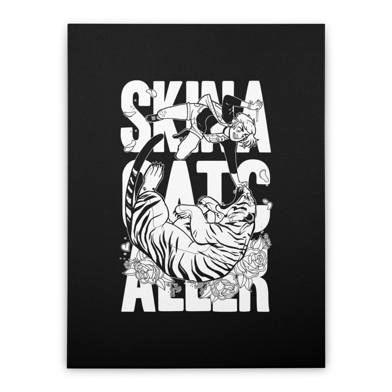 Skin a Catcaller (White Text) Home Stretched Canvas by Mixtape Comics