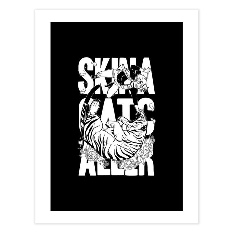Skin a Catcaller (White Text) Home Fine Art Print by Mixtape Comics