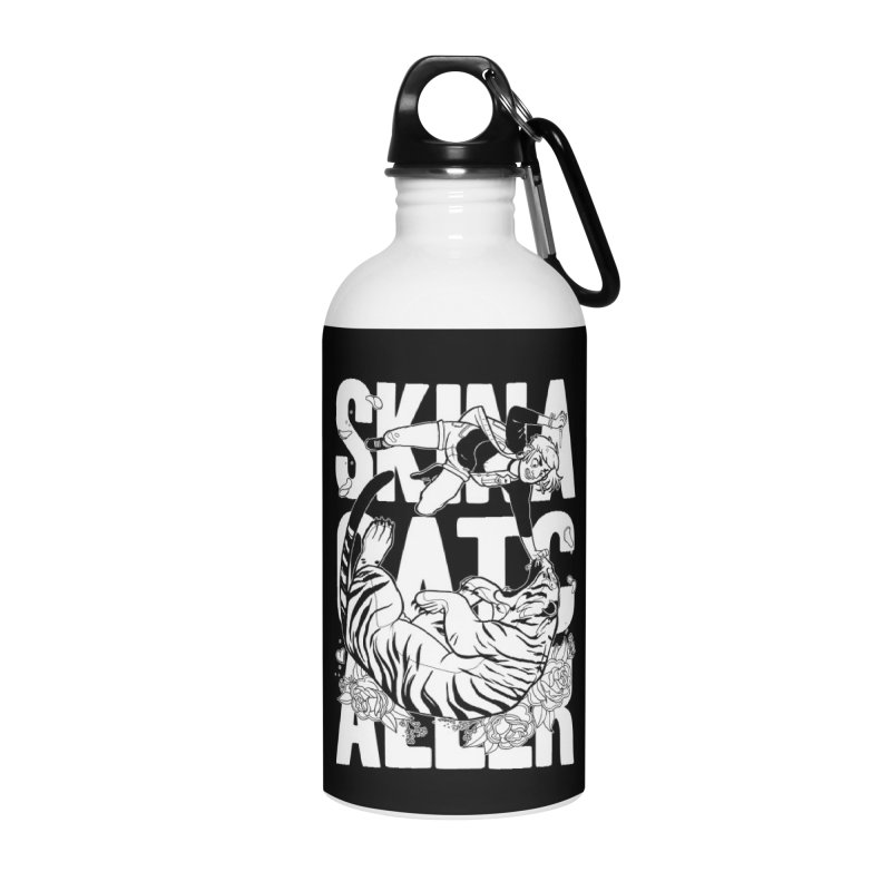 Skin a Catcaller (White Text) Accessories Water Bottle by Mixtape Comics