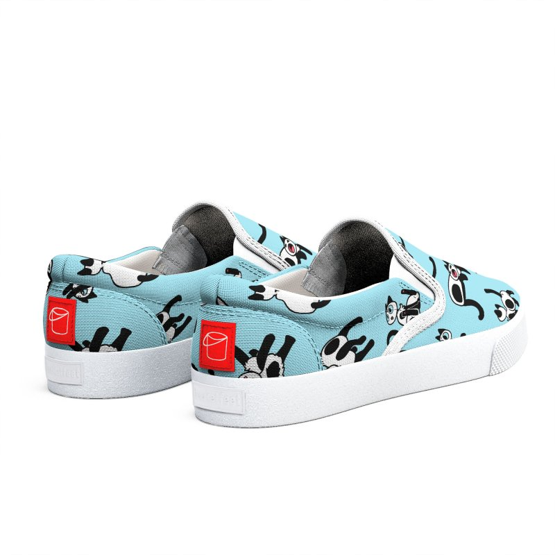 Tiled Frankies (Blue) Men's Shoes by Mixtape Comics