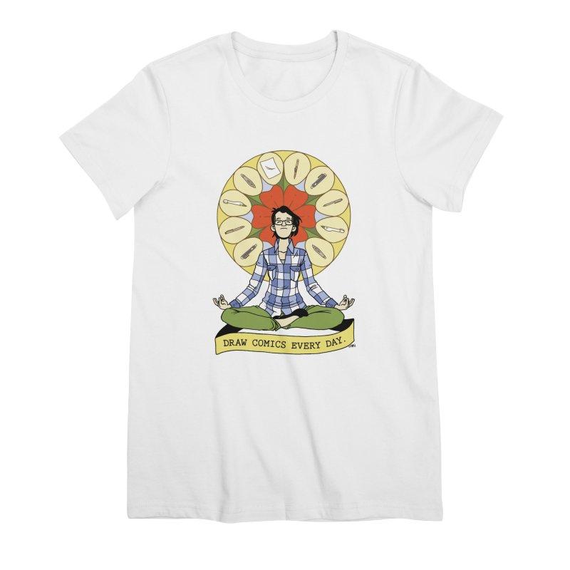 Draw Comics Every Day Women's Premium T-Shirt by Mixtape Comics